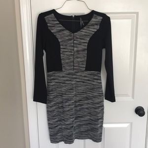 Long sleeve black and gray dress